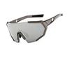 Очки солнцезащитные XQ547, (серый металлик / дымчатые) +2 доп. линзы