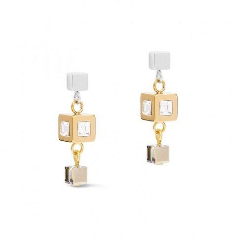 Серьги Golg-Silver 5037/21-1617 цвет прозрачный, белый, золотой