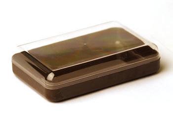 Коробка для мыла коричневая с прозрачной крышкой