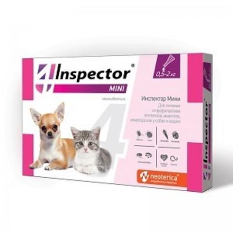 INSPEСTOR (Инспектор) Мини для кошек и собак от 0,5 до 2 кг   1 пип.