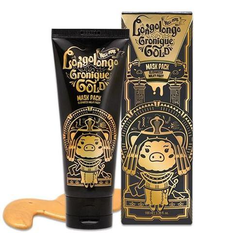 Elizavecca МАСКА-ПЛЕНКА ЗОЛОТАЯ Hell-pore longolongo gronique gold mask pack 100мл