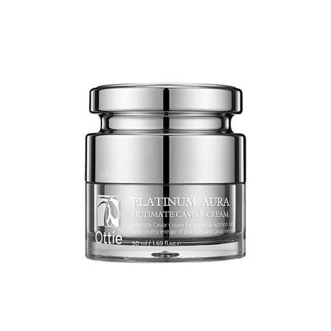 Антивозрастной питательный крем платины Ottie Platinum Aura Ultimate Caviar Cream