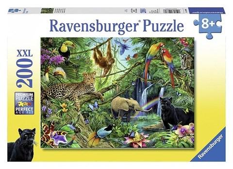 Puzzle  Ravensburger Tiere im Dschungel 200 pcs