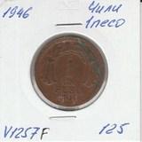 V1257F 1946 Чили 1 песо