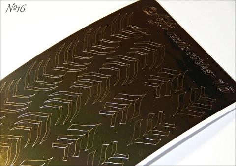 Металлизированные наклейки Arti nails Stiker цвет золото №16 купить за 100руб