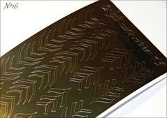 Металлизированные наклейки Arti nails Stiker цвет золото №16