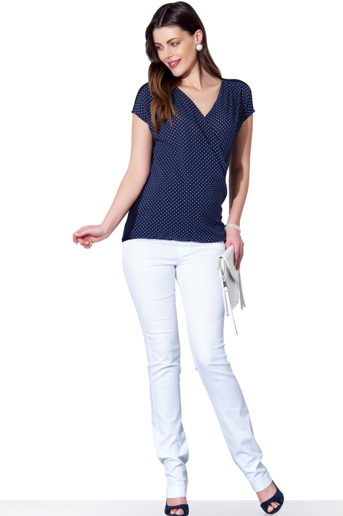 Блузка для беременных 01389 синий