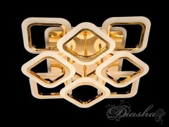 Золотая Светодиодная люстра с димером и подсветкой 110W