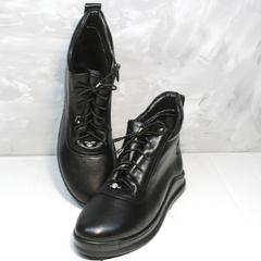 Осенние ботинки женские Evromoda 375-1019 SA Black