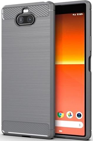Чехол Sony Xperia 8 цвет Gray (серый), серия Carbon, Caseport