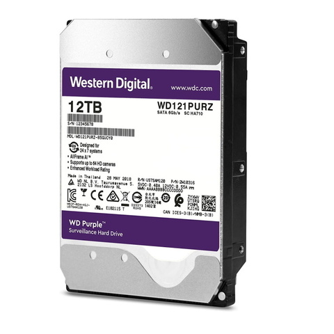 Специализированный HDD 12Tb SATA-3 Western Digital Purple