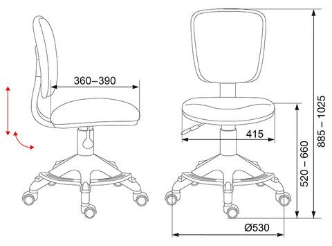 CH-204-F Кресло детское (Бюрократ)