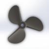 6816/3  WС Serie 3D Propeller 30cc steel