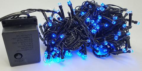 Светодиодная гирлянда нить домашняя 13м 180LED синий