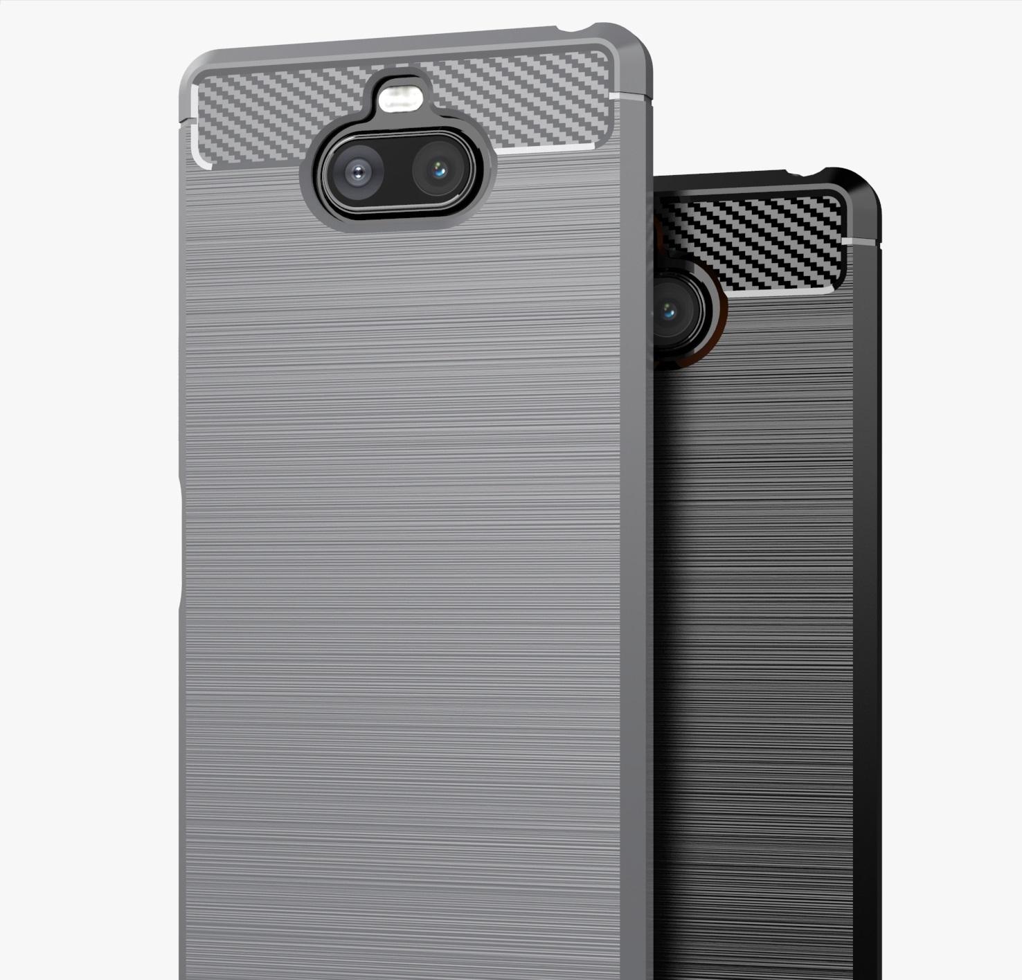 Чехол на Sony Xperia 8 цвет Gray (серый), серия Carbon от Caseport