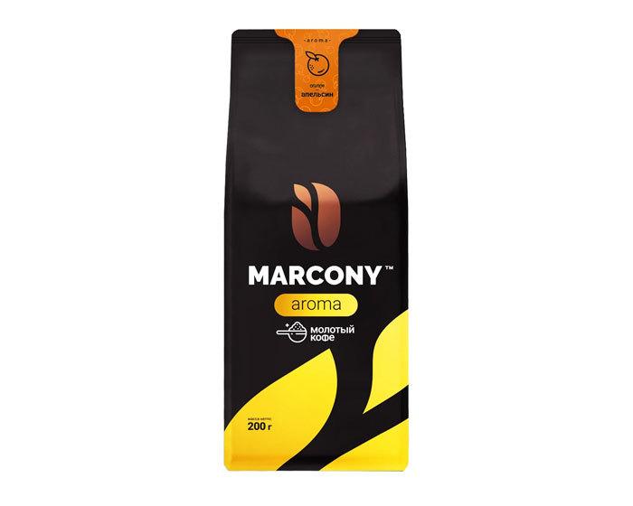 купить Кофе молотый Marcony Aroma со вкусом Апельсина, 200 г