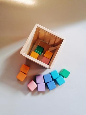 Сортер Кубики пастельные