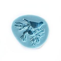 1086 Молд силиконовый. Птица на елке.