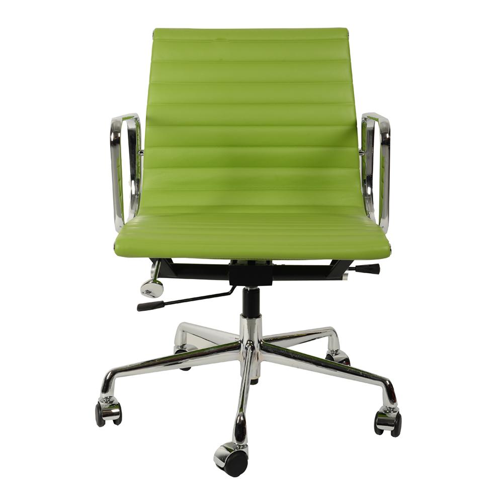 Кресло Eames Style Ribbed EA 117 салатовая кожа - вид 3