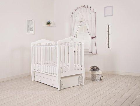 """Кровать детская К-2002-28м """"Доминик"""" маятник универсальный (белый)"""