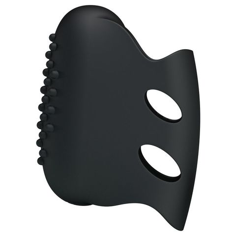 Черная вибронасадка на палец Steward