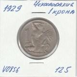 V0856 1929 Чехословакия 1 крона