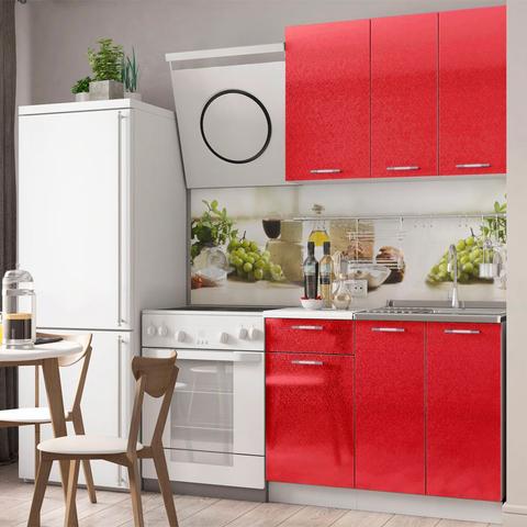 Кухня Техно Красный