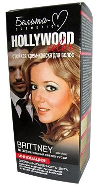 Белита-М Hollywood Крем-краска для волос тон №326 ''Бритни'' (пепельный светло-русый) 100 мл