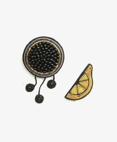 Сет из 2-х брошей Caviar