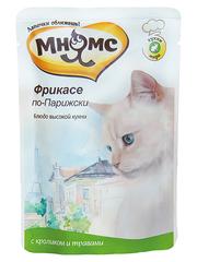 Пауч для кошек Мнямс  Фрикасе по-Парижски (кролик с травами)