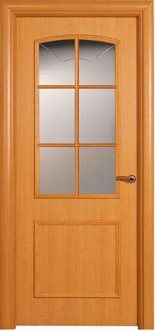 Дверь ДО 158 (ольха, остекленная ламинированная), фабрика Краснодеревщик