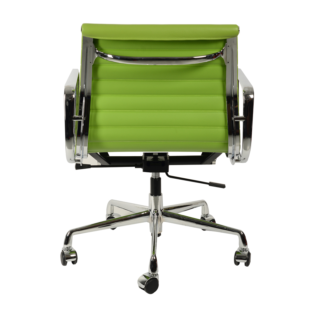 Кресло Eames Style Ribbed EA 117 салатовая кожа - вид 4
