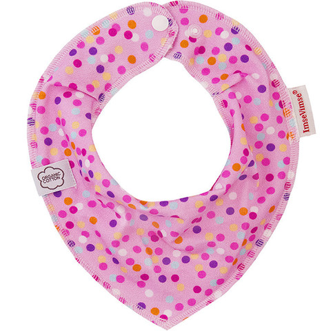 Нагрудник-слюнявчик ImseVimse, pink bubbles