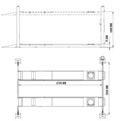 Подъёмник четырехстоечный СТОРМ F4D4SP