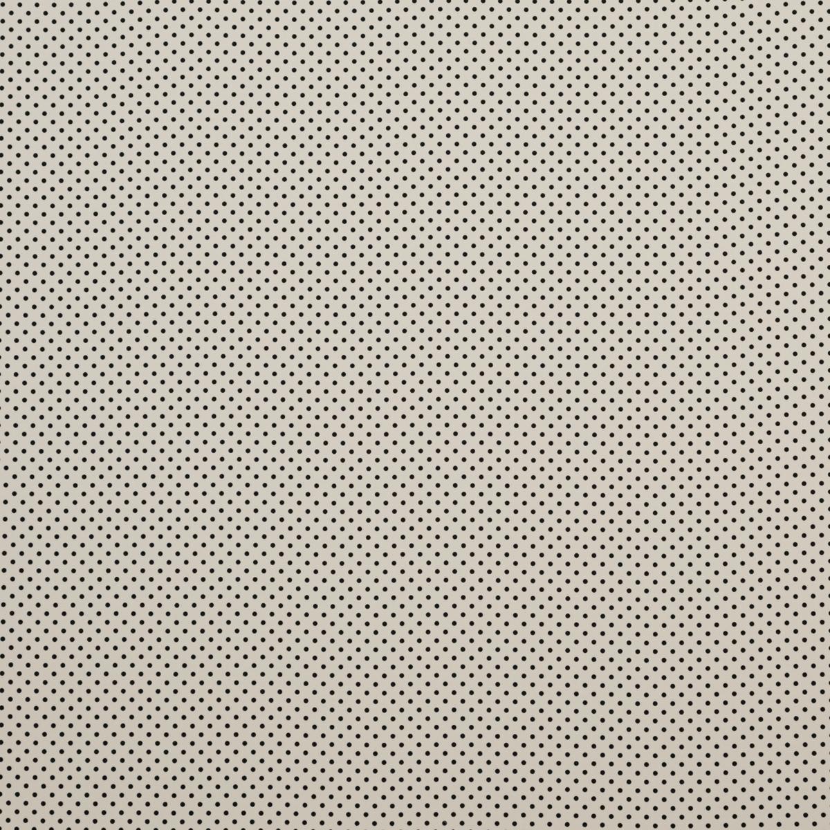 Полушерстяная ткань с шёлком молочного цвета в горох
