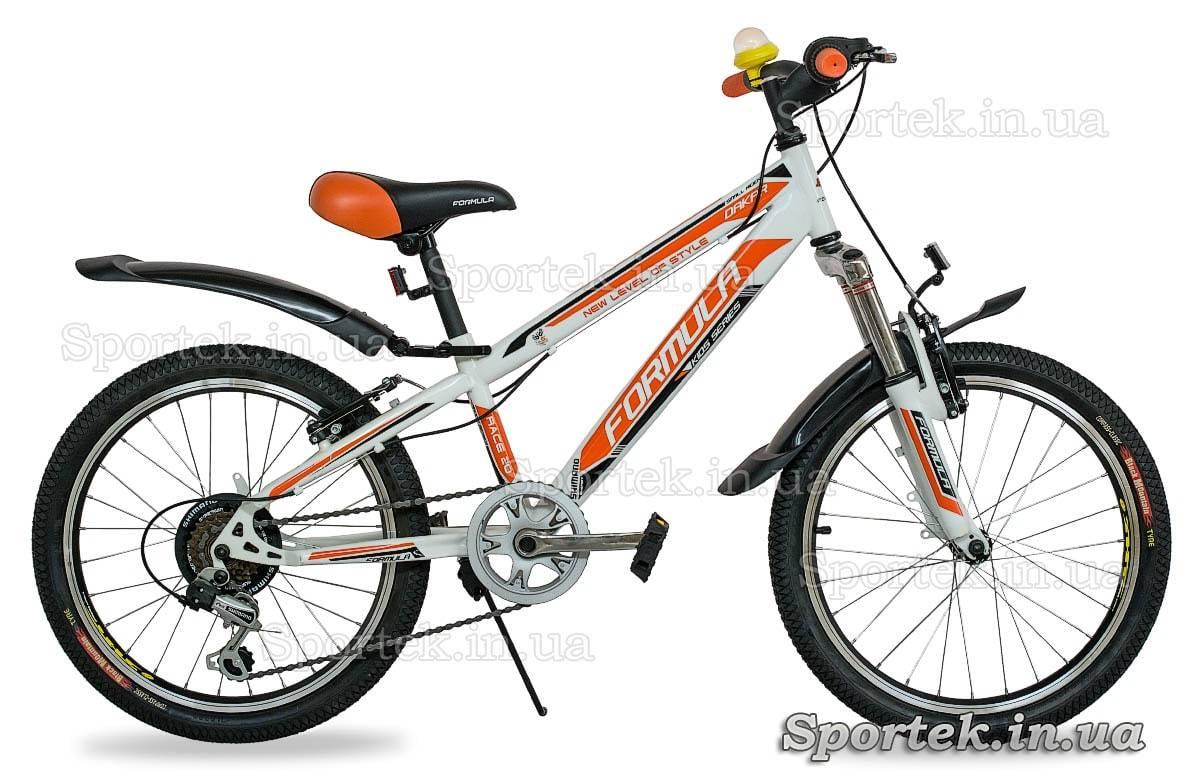 Горный универсальный велосипед Formula Dakar 2015 бело-оранжевый