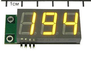 EK-SAH0012UY-200 - Миниатюрный цифровой встраиваемый амперметр (до 200 А) постоянного тока