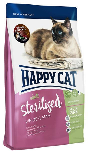 купить Happy Cat Sterilised Weide Lamm сухой корм для кастрированных котов и стерилизованных кошек с пастбищным ягненком