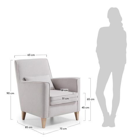 Кресло Fyna бежевое