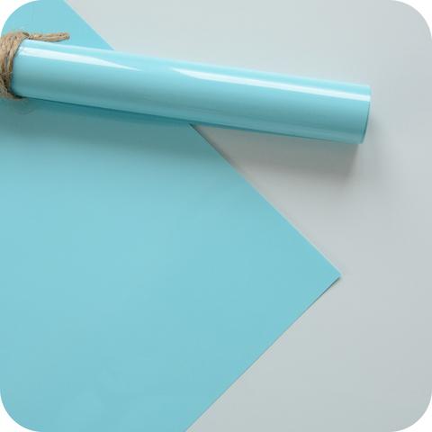 Термотрансферная пленка матовая, цвет бирюзово-голубой, размер отреза 25*25см