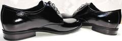 Вечерние мужские туфли из кожи лаковые Ikoc 2118-6 Patent Black Leather