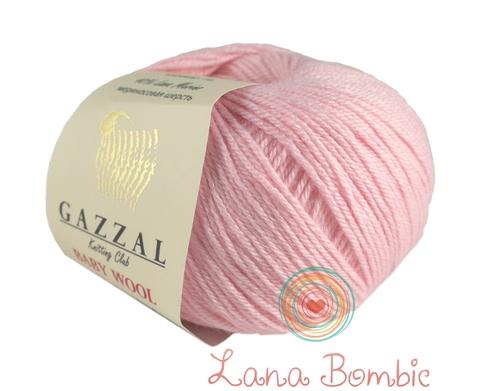 Пряжа Gazzal Baby Wool нежно-розовый 836