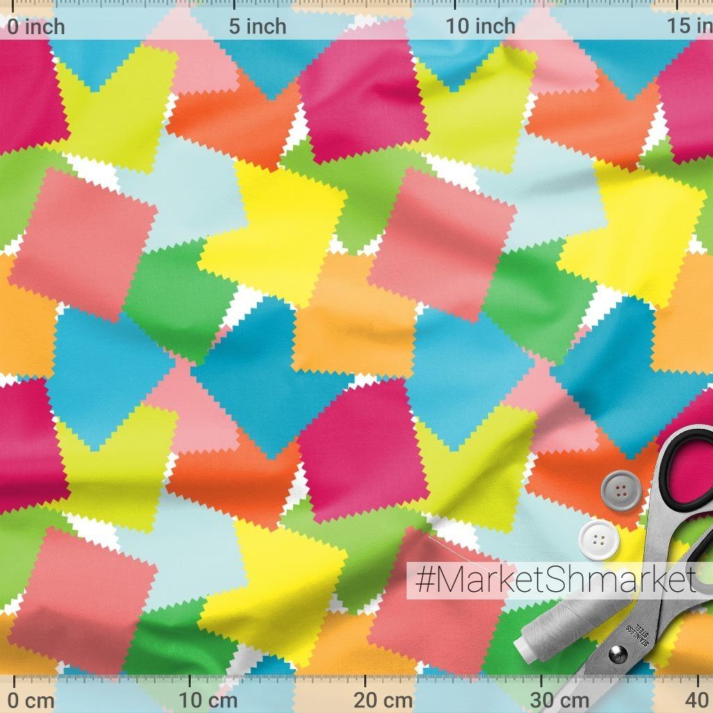 Цветные лоскутки - мелкий паттерн