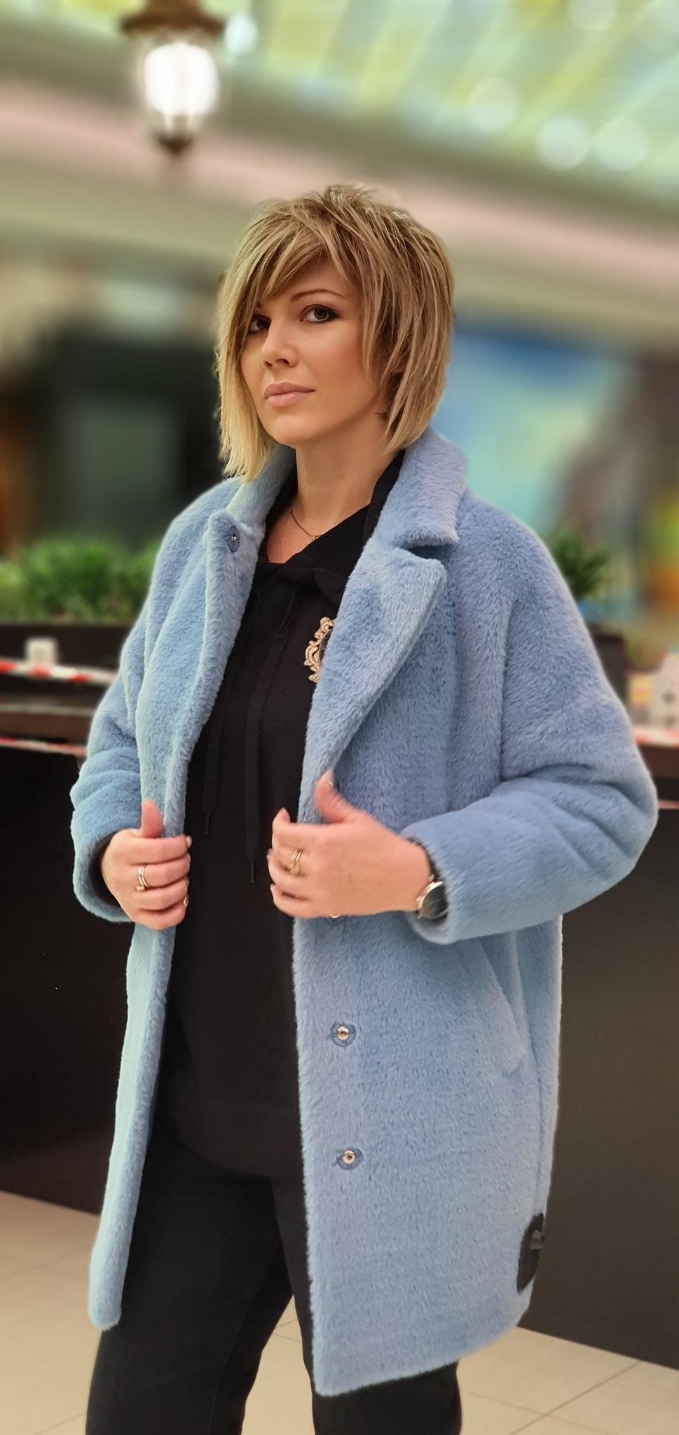 Пальто женское эко-норка