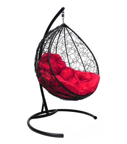 Кресло подвесное Lagos black/crimson