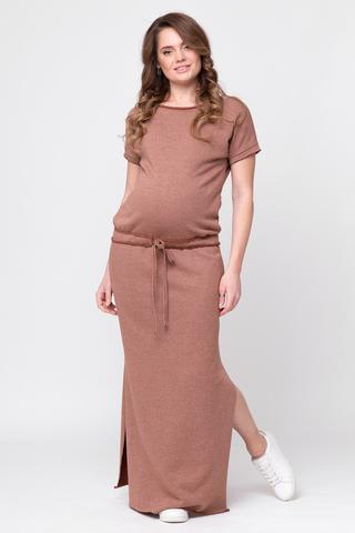 Платье для беременных 08362 коричневый
