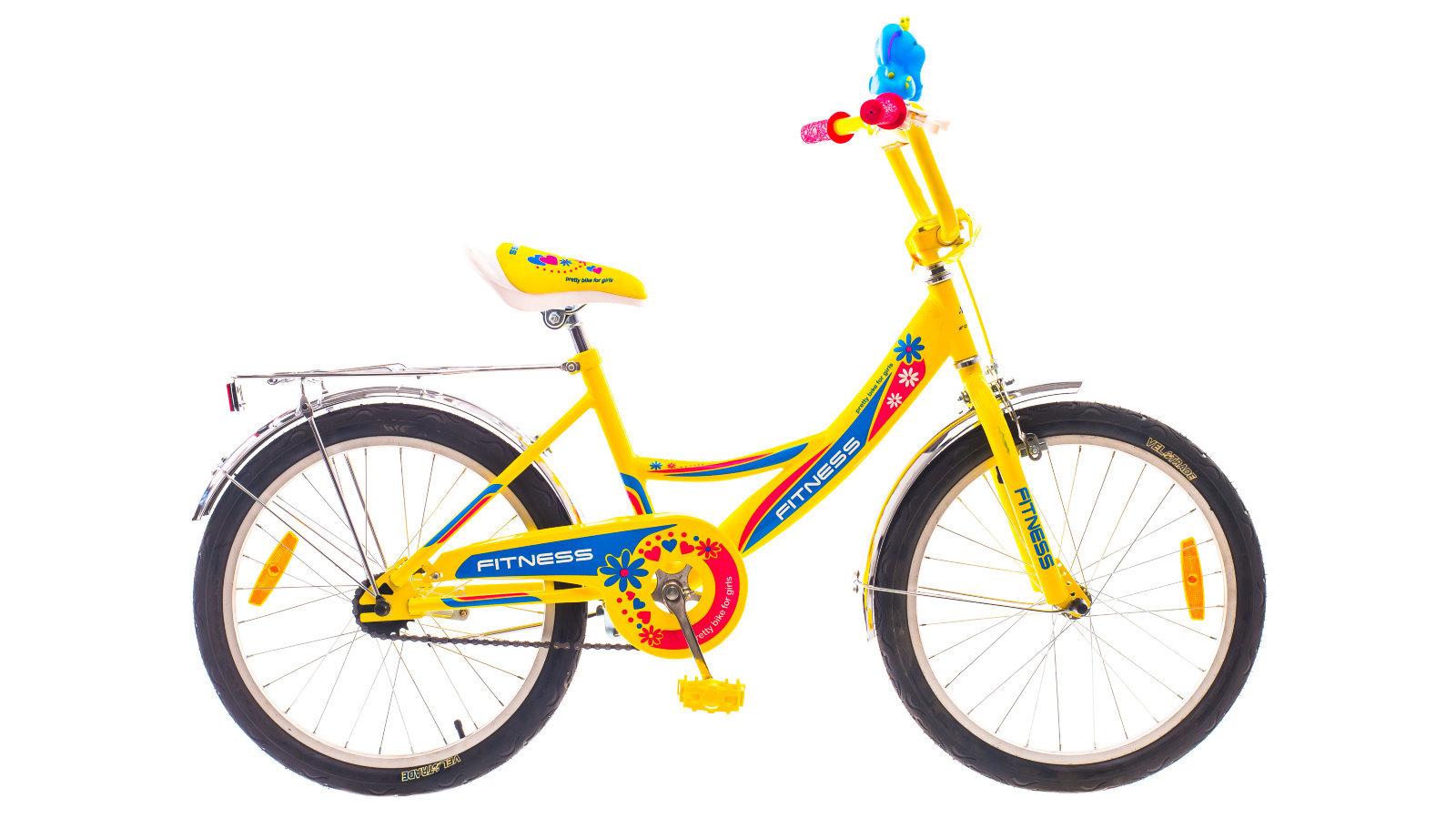 Желто-сине-красный велосипед для девочек Formula Fitness 2015 с колесами 20 дюймов