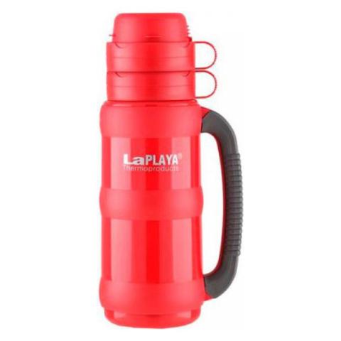 Термос LaPlaya Traditional 35-180 (1,8 литра) со стеклянной колбой, красный
