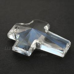 6864 Подвеска Сваровски Крестик Crystal (40х30 мм)
