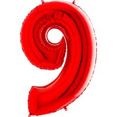 Цифра 9 (Красная)
